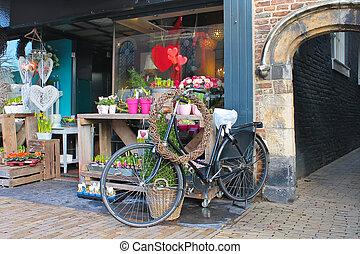bolt, gorinchem., virág, németalföld