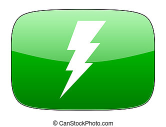 bolt green icon flash sign