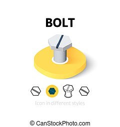 Bolt icon in different style