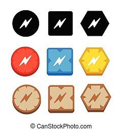 bolt icon lightning icon
