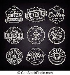 bolt, kávécserje, címke