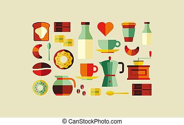 bolt, kávécserje, ikonok