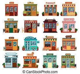 bolt, külső kilátás, épületek, gyűjtés