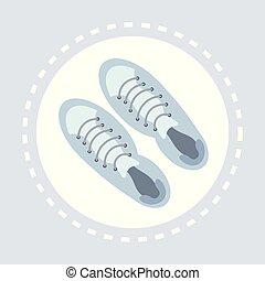 bolt, lakás, mód, bevásárlás, cipők, segédszervek, jel, hím, kényelmes, ikon