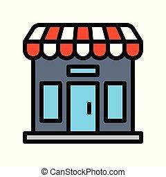 bolt, megtöltött, kapcsolódó, fekete, péntek, vektor, ikon