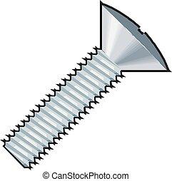 Bolt nut Icon Vector illustration.