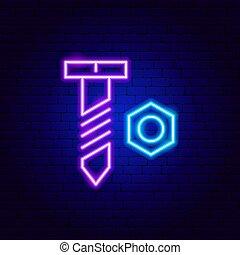 Bolt Nut Neon Sign