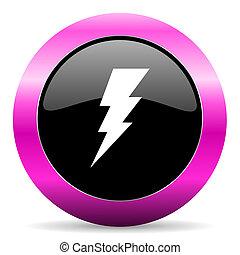 bolt pink glossy icon - web glossy pushbutton