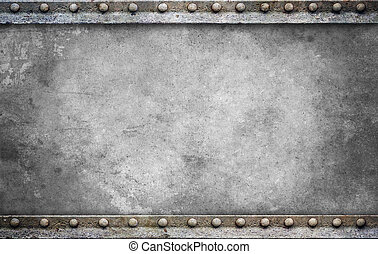 Bolt plate background gray