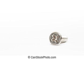 bolt, screw on white background