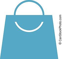 bolt, táska, kedves, ikon