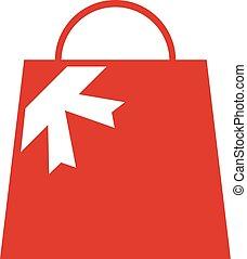 bolt, táska, kedves, tehetség, ikon