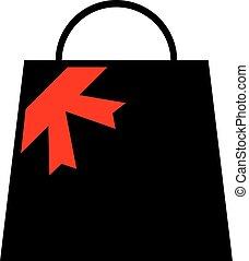 bolt, táska, tehetség, ikon