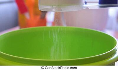 Bolting flour for dough - Bolting flour into the ball for...