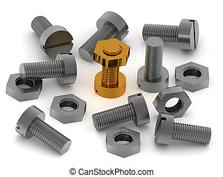 Bolts and nuts.