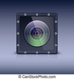 bolts., appareil photo, logement, protecteur, action