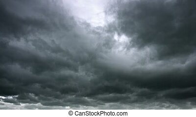 Bolts of Lightning from Heavy, Gray Storm Clouds - Searing, ...
