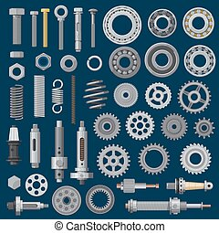 Bolts, screws or nuts, construction hardware tools