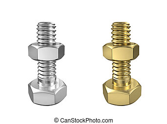 Bolts with nuts