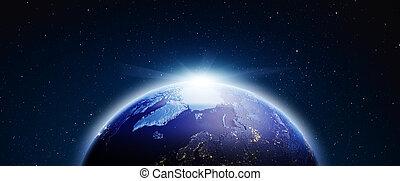 bolygó, earth., 3, vakolás