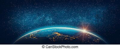 bolygó földdel feltölt, -, asia., alapismeretek, közül, ez, kép, bútorozott, által, nasa