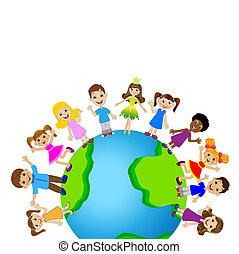 bolygó földdel feltölt, kicsi gyermekek