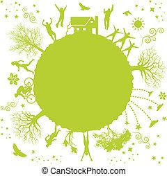 bolygó, zöld