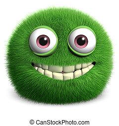 bolyhos, zöld szörny