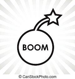 bom, bombardera symbolen