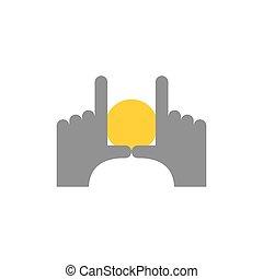 bom, emblema, frame., apontar, abstratos, dedos, fotógrafos, picture., mãos, alvorada, logo., achar