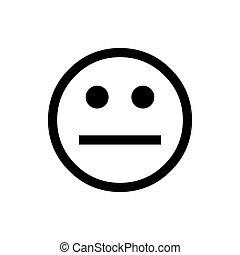 bom, face., emoji, círculo, normal, vetorial, vector.