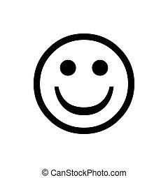 bom, feliz, face., emoji, círculo, mau, normal, vetorial, sorrizo, vector.