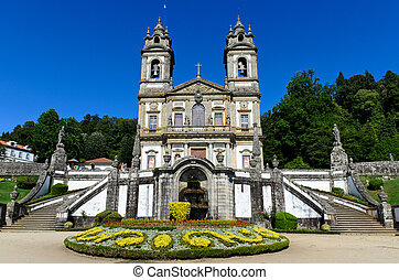 Bom Jesus de Braga, Portugal - A closeup view of the...