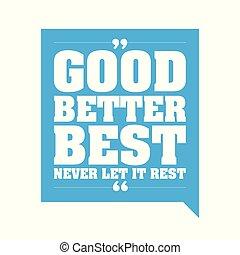 bom, melhor, nunca, aquilo, descanso, melhor, deixe