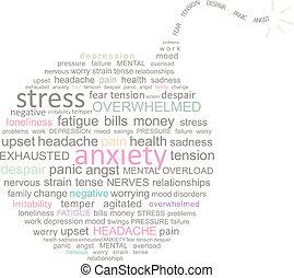 bom, stress, woord, wolk