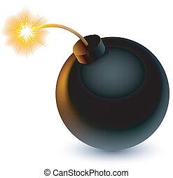 Bomb.   - Cartoon bomb ready to explode.
