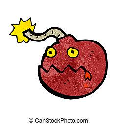 bomb cartoon character