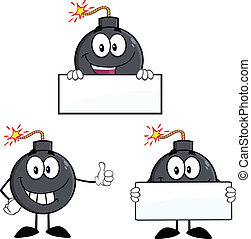 Bomb Characters 4. Collection Set - Bomb Cartoon Mascot ...