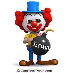 bomb, clown, 3
