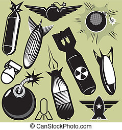 Bomb Collection - A clip art collection of various bomb...