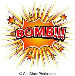 BOMB! Comic book explosion.