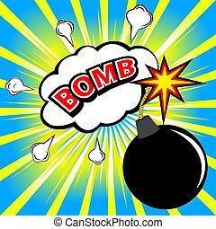 BOMB! Comic speech bubble