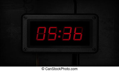 Bomb Counts Down And Explodes - Digital timer on side of...