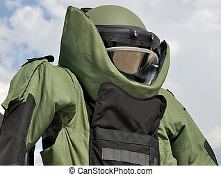 Bomb Disposal Suit - An EOD Blast Suit on Public Display.