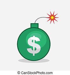 Bomb Dollar Sign