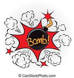 bomb explode cartoon illustration