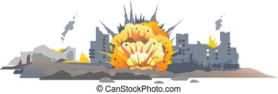Bomb explosion in city