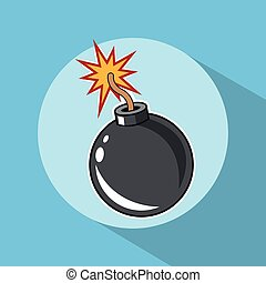 Bomb explosion pop art comic design