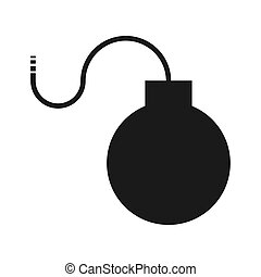 Bomb flat icon, isolated on white background. Vector illustration, modern design