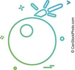 Bomb icon design vector
